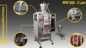 Machine de Conditionnement et de Remplissage Full Automatique de Liquide Sticker (ketchup-3 Line)