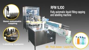 Machine d'étiquetage et de recouvrement de remplissage horizontale de liquide